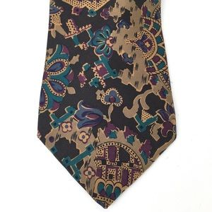 Claiborne patterned 100% silk necktie